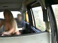Big boobs amateur blonde passenger fucked and jizzed