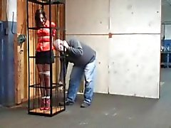 caged bondage whore