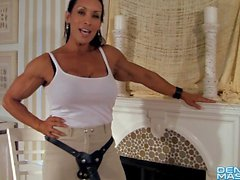 Denise Masino - Pony Up Strap-on Video - Female Bodybuilder