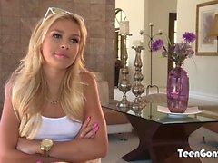 TEENGONZO Blonde teen Carmen Caliento fucked by fat dick