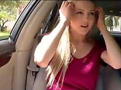 Big juicy tits teen girl Mila Evans screwed up in the car