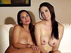 Busty naked lesbians bts