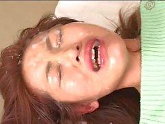 JAV Girl Gets Massive Bukkake Facial
