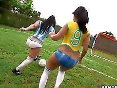Big ass latinas playing football