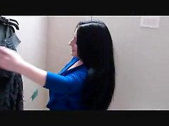 Dollar dressingroom blowjob, she swallows