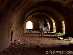 buitenshuis oude ruïnes