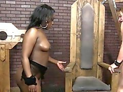 Ebony babes pussy eaten out then doggystyled