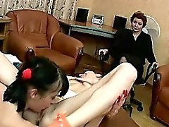 Emily and Linda have fun in 69 position. They are moaning
