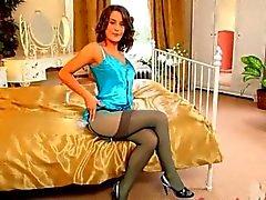 Blue nylons and amazing pantyhose