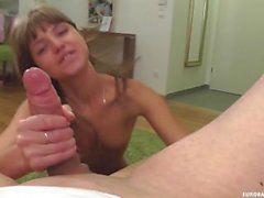 Skinny Russian Gina Gerson Gets Deepthroat and Facial Treatment