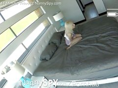 NannySpy Thief nanny fucked after caught stealing a dildo Bella Rose