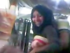 ARAB - Hijab Girl with her Bf in Workplace
