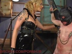 New Slave Takes Brutal Dominatrix Beating